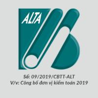 ALTA cong bo thong tin chon don vi kiem toan 2019